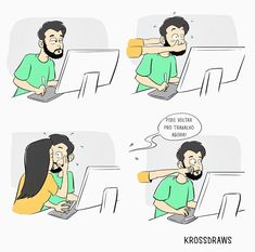Karan Gupta draws hilarious and adventurous illustrations of living with a girlfriend. The love and fights of a relationship are shown with comics of the couple. Love Cartoon Couple, Cute Couple Comics, Couples Comics, Cute Couple Art, Cute Comics, Funny Couples, Funny Comics, Boyfriend Memes, Love Quotes For Boyfriend