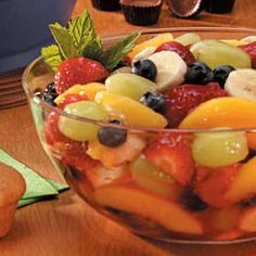 Five-Fruit Salad Recipe I use fresh strawberries rather than frozen. So quick…