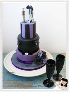Corpse Bride Wedding Cake. #timburton #wedding cake www.sweetmama.es