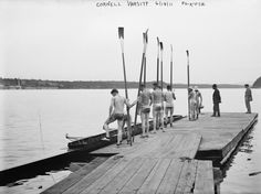 Cornell University Rowing Crew Team - Vintage Photograph