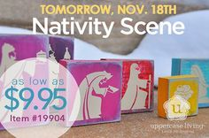 Tomorrow.... Nov. 18th purchase the vinyl for  a fun project party! #UppercaseLiving #WhenWallsTalk #Nativity #Christmas #holidaydecor