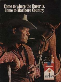 The model was a real cowboy who died from lung cancer.