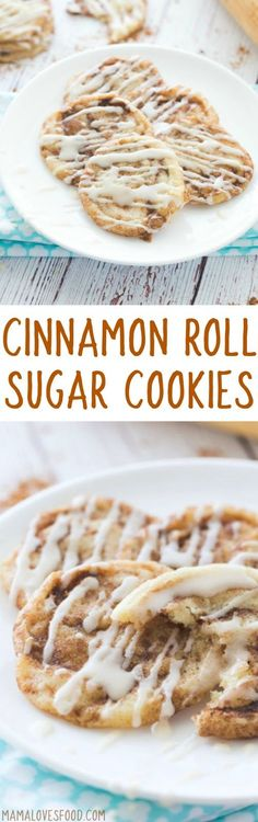 OMG these are amazing!! Cinnamon Roll Sugar Cookies Recipe - How to Make Cinnamon Roll Cookies