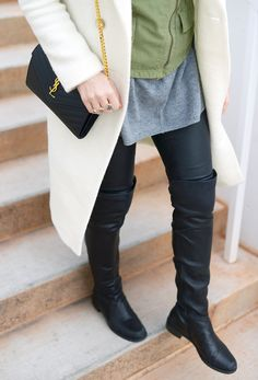 4ef4cf95991f Truffle Collection Over The Knee Boot with Clear Heel