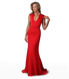 JS Collections Red Carpet V-Neck Gown | Dillard's Mobile