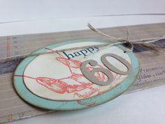 Stempel ... Freizeit ... pur:  Vintage, Geschenkanhänger   Stampin Up! By the Tide, Happy Day