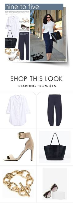 """""""nine to five curvy chic"""" by federica-m ❤ liked on Polyvore featuring H&M, Isolde Roth, Charlotte Russe, Zara, NLY Accessories and Fantas-Eyes"""
