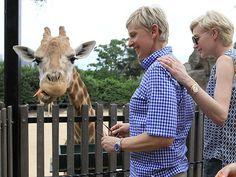 Ellen DeGeneres & Portia de Rossi Mingle with Aussie Animals  Exotic Animals & Pets, Zoo Animals, Ellen DeGeneres, Portia de Rossi