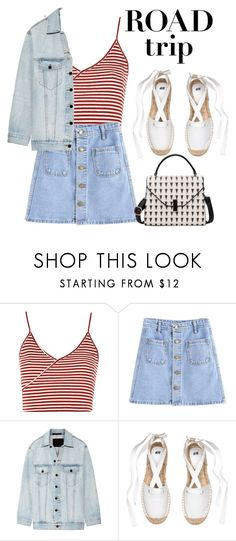 """Road trippin"" by babyanj ❤ liked on Polyvore featuring Topshop and Alexander Wang"