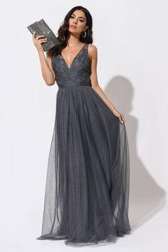 Charcoal Grey Bridesmaid Dresses, Gray Formal Dress, Sparkly Bridesmaid Dress, Grey Prom Dress, Bridesmaid Dresses With Sleeves, Grey Bridesmaids, Mother Of Groom Dresses, Maxi Dresses, Gray Wedding Dresses