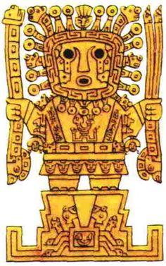 Viracocha, the creator god of the Incas.