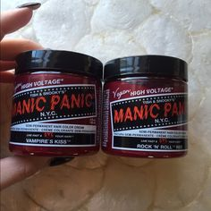 Manic panic two types of red hair dye brand new Vampires kiss and rock n' roll red hair color dyes brand new never open before! Manic panic Other