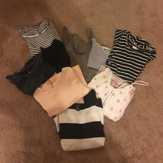 bundle of 9 tops, 20% off H&M, Forever 21, PacSun, Tilly's, American Eagle Tops Blouses