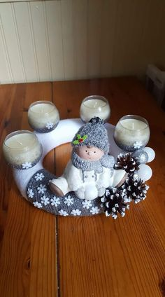 Christmas Treats, Winter Christmas, Advent, Couronne Diy, Jingle Bells, Snow Globes, Crafts, Home Decor, Ideas