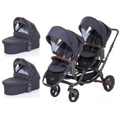 ABC-Design Zoom Style Tandem Pram System With 2 Carrycot-Street