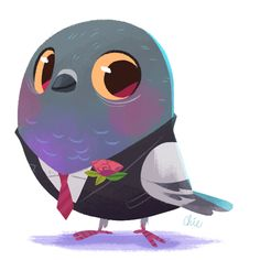 pigeons can be dapper too! ★ Find more at http://www.pinterest.com/competing/