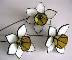 Glass Daffodils Stained glass flowers bouquet Garden by MyVitraz