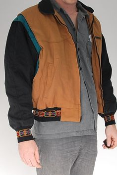 Giacca Bomber azteco unica giacca Vintage di cheneyryanapparel