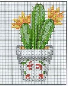 Cactus Cross Stitch, Cross Stitch Needles, Simple Cross Stitch, Cross Stitch Flowers, Modern Cross Stitch, Cross Stitching, Cross Stitch Embroidery, Cross Stitch Patterns, Beading Patterns