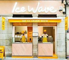 Not a coffee shop but I thought it was such a cool facade I had to share it. Kiosk Design, Cafe Design, Store Design, Cafe Restaurant, Restaurant Design, Mini Cafe, Gelato Shop, Food Kiosk, Cafe Concept