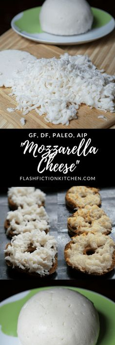 'Mozzarella Cheese' (paleo, AIP, dairy-free) from Flash Fiction Kitchen