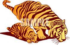 Tiger And Cub Clip Art Clipart