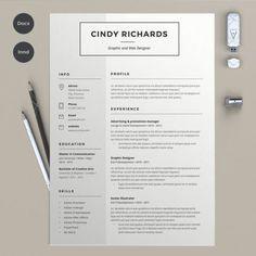 Modern Cv Template, Best Resume Template, Resume Design Template, Creative Resume Templates, Design Templates, Templates Free, Resume Skills List, Resume Tips, Resume Cv