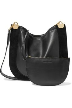 Black leather and suede (Calf) Zip fastening along top Weighs approximately  1.5lbs  c8660fc0545