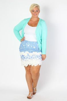 Plus Size Clothing for Women - Mindy Skirt - Society+ - Society Plus - Buy Online Now!