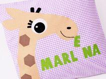 Kissen Giraffe und Namen