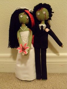 Bride and Groom Zombies - TOYS, DOLLS AND PLAYTHINGS