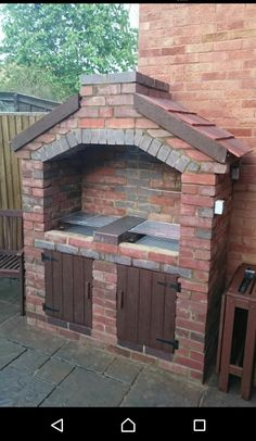 best ideas about Brick Grill Outdoor Bbq Kitchen, Outdoor Barbeque, Pizza Oven Outdoor, Backyard Kitchen, Garden Bbq Ideas, Barbecue Garden, Brick Built Bbq, Brick Grill, Bbq Chimney