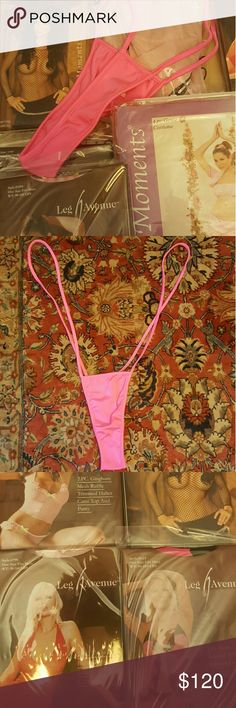 "27pc Pink Lovers Lingerie & Swimsuit Bundle If you love pink this is for you. Many pink pieces and other colors as well. Great to start an online business. All new never worn. 1 Pink Bathing Suit, 1 Pink Mesh Wrap around cover up or use as convertible piece worn in various ways, 1 Pink Fishnet Top, 1 Pink Gown,  2 Pc Pink Sequence Babydoll & Panty  2 Pc Pink Halter Dress & G-String 2 Pc Pink Gingham Ruffle Halter & Panty 4 Pc Genie Costume 2 Pink Thigh Hi 1 "" Heaven"" Thong 6 Thigh Hi 1…"