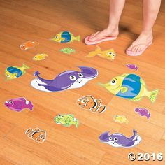 Turn your ordinary floor into an ocean floor with these colorful clings. Perfect for your Under the Sea VBS theme, these smiling' sea creatures are ready ...