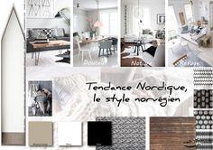Moodboard - Déco, planche d'ambiance, tendance nordique, style norvégien, réalisation well-c-home
