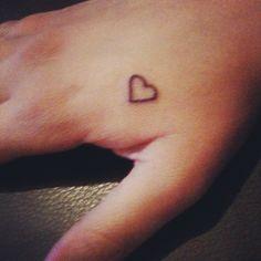 My heart on hand tattoo