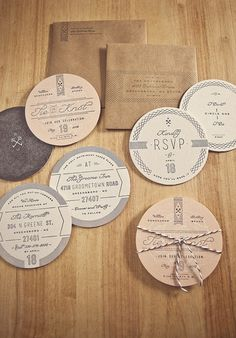 circular wedding invitations
