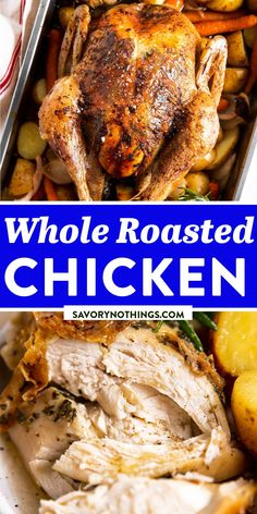 Crispy Baked Chicken, Whole Roasted Chicken, Quick Summer Meals, Instant Pot Pork Chops, Carrots And Potatoes, Easy Family Dinners, Sunday Roast, Herb Butter, Slow Cooker Soup