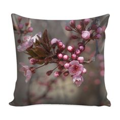 """Pink Flower Throw Pillow Cover 16"""" Decorative Floral Throw Pillowcase"""