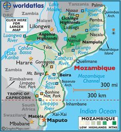 Mozambique oil mozambique road map mozambique pinterest map of mozambique publicscrutiny Choice Image