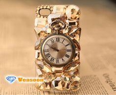 diamond iphone casepocket watch iphone 5 casepocket by Veasoon, $33.99