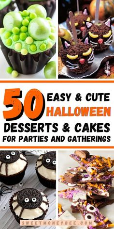 Easy Halloween Desserts, Cute Halloween Treats, Halloween Poems, Halloween Cake Pops, Healthy Halloween Snacks, Halloween Baking, Halloween Food For Party, Halloween Kids, Cute Snacks