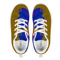 Shoes elegant blue gold