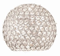 "8.25"" Crystal Glass Bowl Pendant Shade"