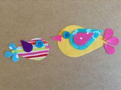 Little Birdies....Appliqué Template Pattern ONLY ----Make your own applique----