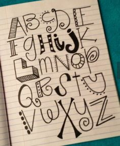 Alphabet lettering doodles by denisedaysmith - Click image to find more diy Do It Yourself Inspiration, Inspiration Quotes, Journal Inspiration, Paper Crafts, Diy Crafts, Creative Crafts, Creative Art, Crafty Craft, Crafting
