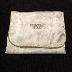 "Vintage Victoria's Secret Satin Lingerie Envelope Satin cream with gold stitching vintage Victoria's Secret lingerie envelope protector.  Small pocket.  9"" x 9"". Protect your delicates when traveling.  NO TRADES Victoria's Secret Bags Travel Bags"