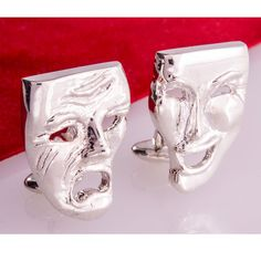Cufflinks Double Sided Drama Masks Solid Quality Handmade by Mdelaluzjewelry