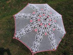 crocheted umbrella