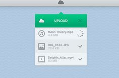Today's freebie on 365psd is a dropdown upload widget for a OSX app. Free PSD designed by Geldy.